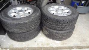 Set of nissan truck tires and wheels